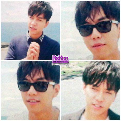 Berbagai wajah Seung Gi yang ditampilkan di video yang direkam di Hawaii.