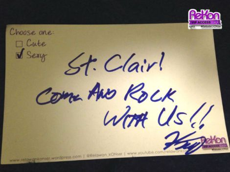 A message from Kaz for you! So... let's rock with St.Clair!