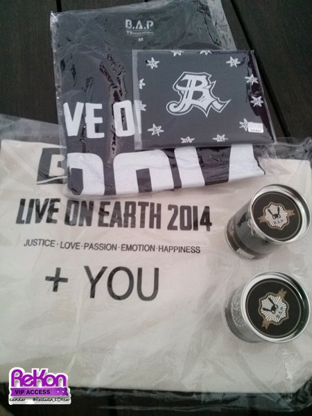 Some Live on Earth 2014 official goods.