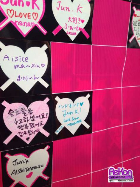 The message we left for Jun.K, on behalf of Indonesian HOTTESTs!
