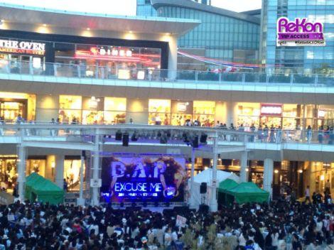Suasana di Lazona Kawasaki yang disemuti Babyz.