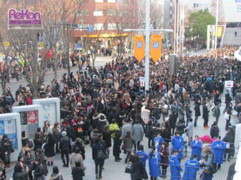 LUNA SEA fans flooding Yokohama Arena.