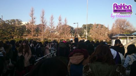 OLDCODEX's fan enthusiastically lining up in front of Budokan.
