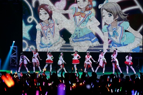 The Last Group To Take Stage Was Aqours When Nine Members Gathered On Audience Went Crazy With Loud Cheers And Screams